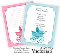 Free Baby Shower Invitations Printable Free Printable Perambulator Baby Shower Invitations Call Me Victorian