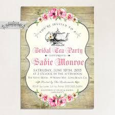 Tea Invitations Printable Wood Look Bridal Shower Tea Party Invitations Bridal High Tea