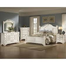 Heirloom 4 Piece King Bedroom Set in Antique White