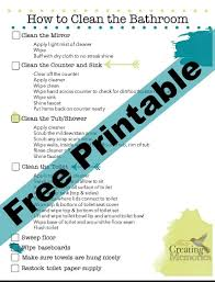 Toilet Checklist Format. Cheap Bathroom Cleaning Checklist In Pdf ...