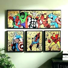 comic wall art marvel wood comics wooden extraordinary book co