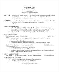 Mechanical Engineering Resume Template Technical Resume Template