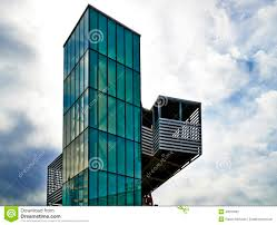 Simple Modern Architecture Kansas City Green Glass Elevator In Ideas