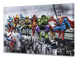 marvel dc superheroes lunch on a
