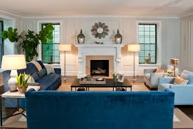 blue sofa decor living room eclectic with chair blue couch living room ideas