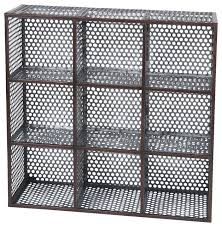 best 28 metal mesh shelf 2 retro vintage hanging wall