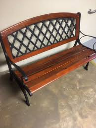 garden treasures 25 95 in w x 50 in l brown steel patio bench item 609543 model hpgf87738 3 for in winston m nc offerup