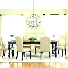 stupendous dining room chandeliers height dining for rectangular dining table