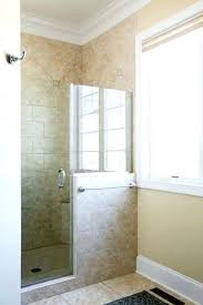 Walk in shower with half wall Burnbox Walk In Shower With Half Wall Door And Glass Hinges Hardware Bun Burger Bun Walk In Shower With Half Wall Door And Glass Hinges Hardware New