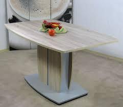 Moderner Säulentisch Eiche Sägerau Esstisch Esszimmertisch Design