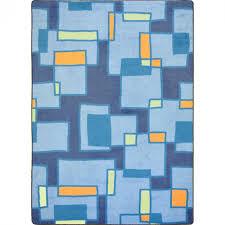 joy carpet outside the box kid essentials teen area rugs cool blue
