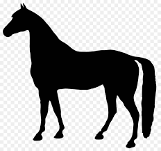 standing horse silhouette. Simple Horse Standing Horse Silhouette Clip Art  Horseshoe Intended O