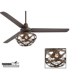 7 Rustic Industrial Ceiling Fans With Cage Lights Youll Love