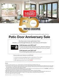 milgard patio doors anniversary milgard patio door and sliding glass wall system promo