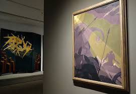 a rare encounter with an aaron douglas painting that references slavery s past