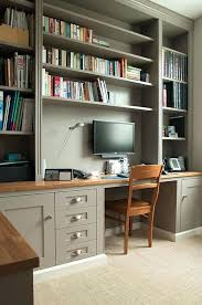 Image Built Home Office Shelving Office Bespoke Home Office And Shelves On Two Walls View With Home Omniwearhapticscom Home Office Shelving Omniwearhapticscom