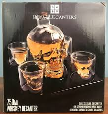 skull decanter box