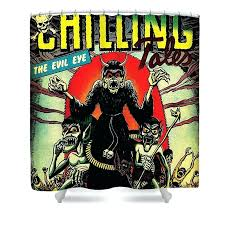 comic shower curtain comic book covers shower curtain featuring the digital art chilling tales horror comic