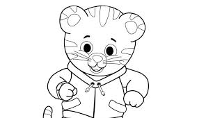 Small Picture Daniel Tiger Family Coloring Pages Cartoon Funny Daniel Tiger