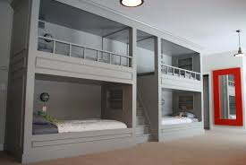 interior bunk beds built into the wall plans room decors and design satisfying bed staggering