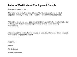 Sample Certification Letters 8 Certification Letters Find Word Letters