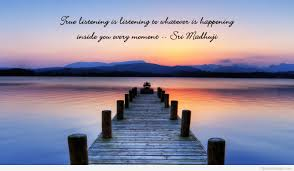 true listening is listening to whatever