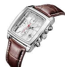 aliexpress com buy megir chronograph function men s titan watch megir chronograph function men s titan watch genuine leather luxury men s top brand military watches relogio masculino