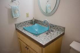 tile bathroom countertop ideas. Iridescent Penny Tile Vanity Countertop By Precision Floors And Decor Plymouth Bathroom Ideas O