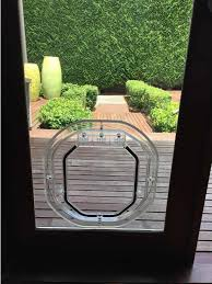 medium dog door for glass supplied installed