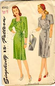 1940s Dress Patterns Awesome 48s Dress Pattern With Side Buttons Sense Sensibility Patterns
