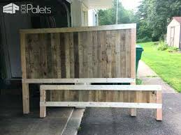 king size pallet bed rustic king size bed frame rustic king size pallet bed frame build