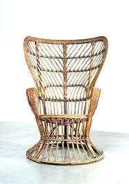 Wingback Wicker Chair Rattan Armchair Pottery Barn  Cushions Vintage44