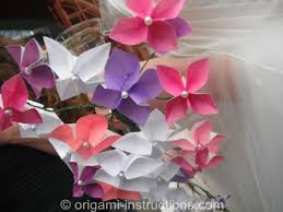 Paper Origami Flower Bouquet Origami Wedding Origami For Your Special Day