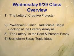 the lottery rdquo shirley jackson ppt video online 30 wednesday