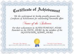 Achievement Awards Templates Certificate Of Achievement