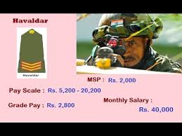 Indian Army Ranks Monthly Salary Gd Entry Jco Or