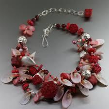 pink c cinnabar necklace