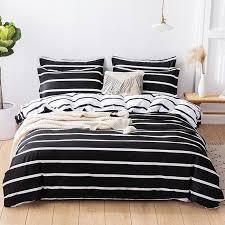 white stripe bedding set duvet cover