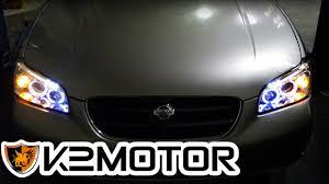 2001 Nissan Maxima Lights K2 Motor Installation Video 2000 2001 Nissan Maxima Projector Head Lights