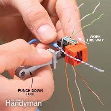 installing communication wiring the family handyman photo 9 punch down the wires