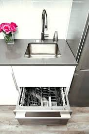 gap between dishwasher and countertop small kitchen solutions one drawer dishwasher small space kitchen renovation the