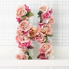 Flower Paper Mache Papier Mache Letter With Flowers Craftgawker