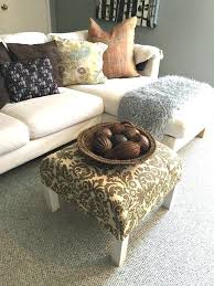 diy ottoman coffee table ottoman coffee table how to turn a plain old end table diy ottoman coffee table
