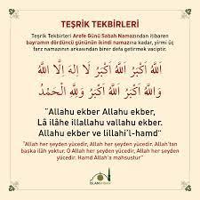 Teşrik Tekbiri Okunuşu ve Anlamı - Teşrik tekbiri arapça türkçe diyanet