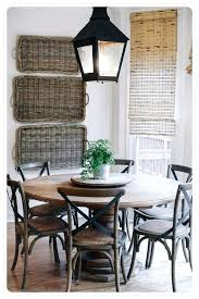 round country dining table round farmhouse kitchen