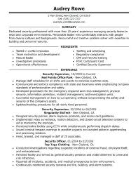 Security Officer Resume Duties Resume Of Security Officer Resume ...
