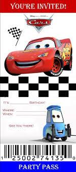 Pinmonica Guajardo On Kids Cars Birthday Invitations Disney