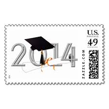 best graduation postage stamps images postage  class of 2014 graduation cap and diploma postage stamps this great stamp design is