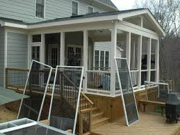 tips ideas how t install screen porch ideas in covered patio