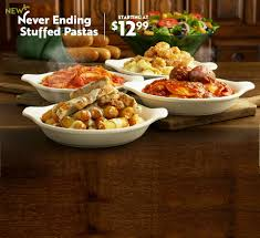 never ending stuffed pastas starting at 12 99 order now